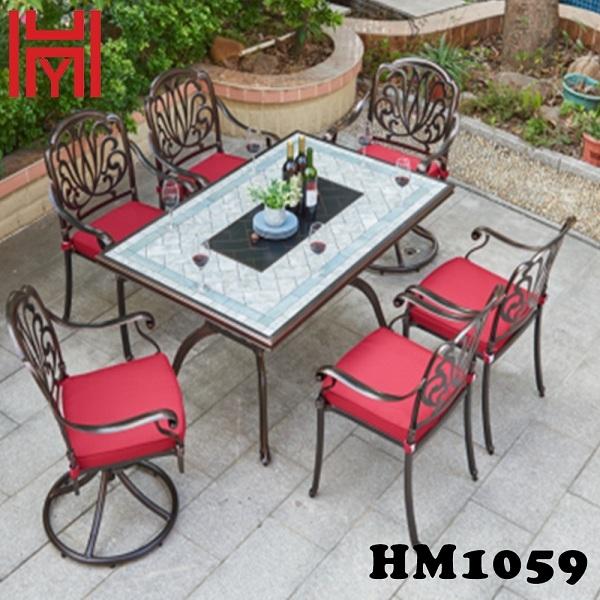 BÀN NƯỚNG ĐIỆN SÂN VƯỜN HM1059