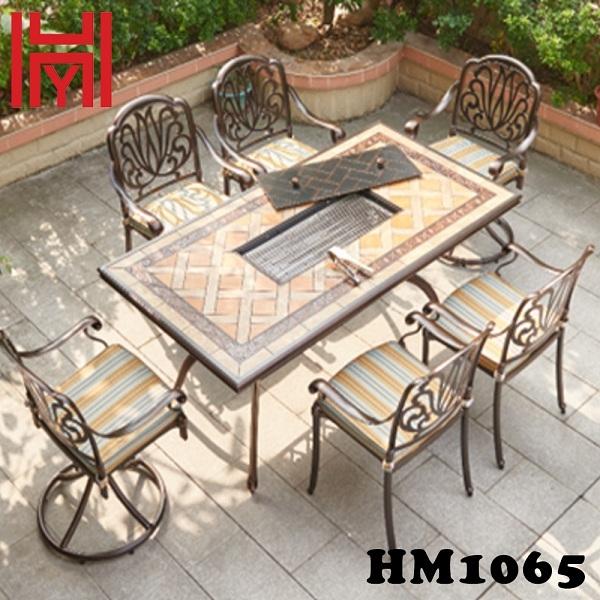 BÀN NƯỚNG ĐIỆN SÂN VƯỜN HM1065