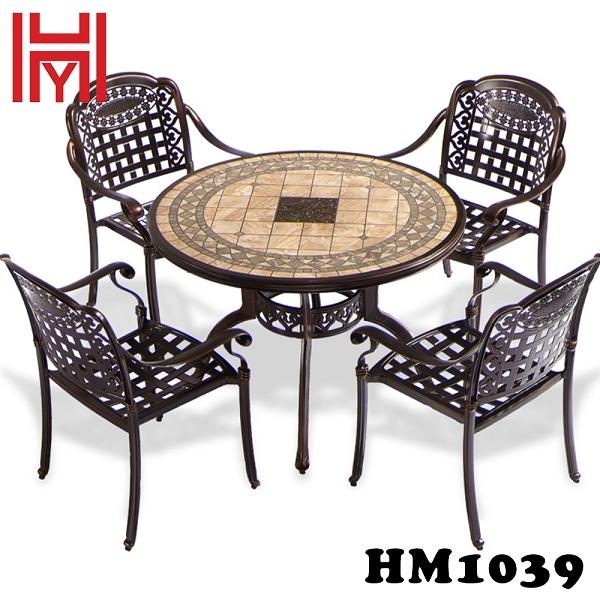 BÀN SÂN VƯỜN HM1039 ĐỎ GẠCH