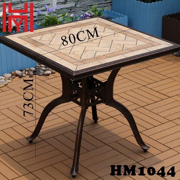 BÀN SÂN VƯỜN HM1044 VUÔNG