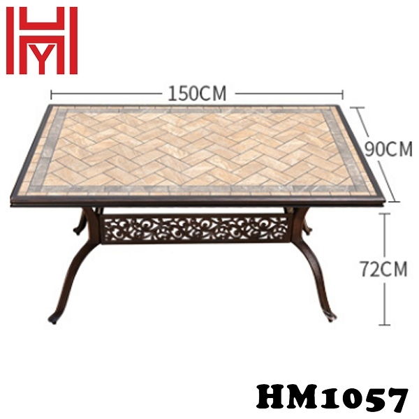 BÀN SÂN VƯỜN HM1057 CAM ĐẤT