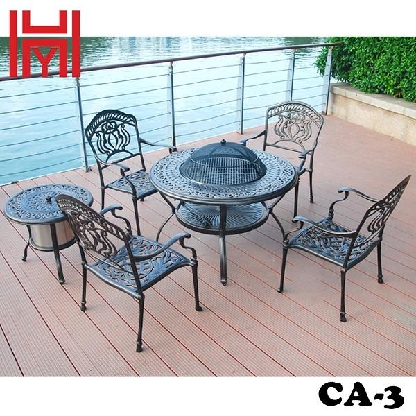 GHẾ SÂN VƯỜN CA-3 HOA SEN