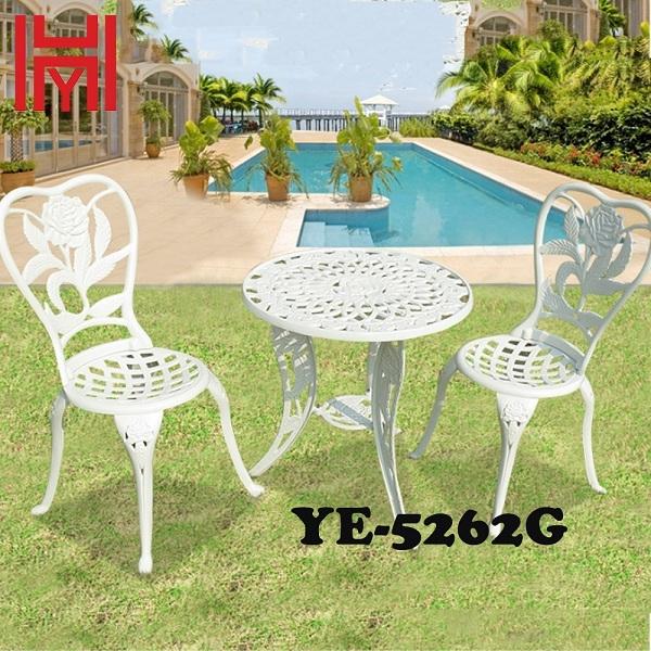 GHẾ SÂN VƯỜN YE-5262G HOA HỒNG