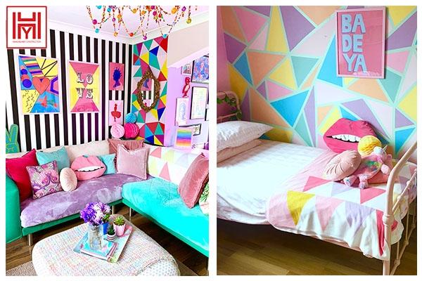 Khám phá không gian ngồi nhà đầy màu sắc sống động.
