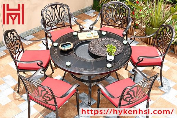 Top 4 mẫu bàn nướng sân vườn hợp kim nhôm ngoài trời